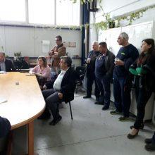 Επίσκεψη της Αθηνάς Τερζοπούλου στα συνεργεία της Δ.Ε.ΤΗ.Π. (Φωτογραφίες)