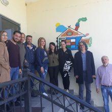 Επίσκεψη στην ΕΨΥΚΑ (Εταιρεία Ψυχικής Υγείας και Κοινωνικής Αποκατάστασης Ασθενών) στα Σέρβια
