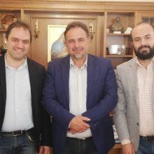 Συνάντηση του προέδρου του Επιμελητηρίου Κοζάνης, Νίκου Σαρρή με τον υποψήφιο Ευρωβουλευτή, Γιάννη Μητλιάγκα