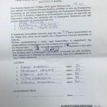H 5μελής Γραμματεία του Ν.Παραρτήματος της  ΟΤΟΕ Ν. Κοζάνης