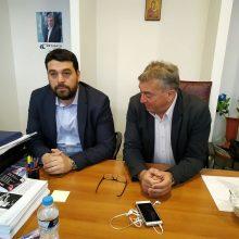 """Στα γραφεία του συνδυασμού """"Μετάβαση για το Δήμο Koζάνης"""" ο πρόεδρος της ΟΝΝΕΔ κ. Κωστας Δέρβος (Δελτίο τύπου)"""