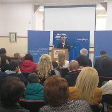 Η πολιτική ομιλία  του Θόδωρου Καρυπίδη στην Σιάτιστα και η επίσκεψη του σε κοντινούς οικισμούς