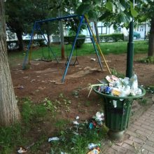 Eπιστολή αναγνώστη στο kozan.gr: Η κατάσταση με τα σκουπίδια, στο πάρκο επί της οδού Διοικητηρίου στην Πτολεμαΐδα, έφτασε στο απροχώρητο.