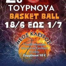 2ο τουρνουά μπάσκετ, στις 19 Ιουνίου, από την Αστραπή Κλείτου Κοζάνης