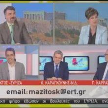 """Γιάννης Θεοφύλακτος στην ΕΡΤ:  """"Η Ν.Δ. ξέρει μόνο από στρεβλή ανάπτυξη, με δανεικά, διαφθορά και διαπλοκή – Η ανάπτυξη του ΣΥΡΙΖΑ είναι δίκαιη, βιώσιμη και με σεβασμό στο περιβάλλον και τους εργαζόμενους"""" (Βίντεο)"""