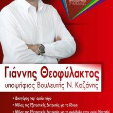 Δήλωση υποψηφιότητας του Γιάννη Θεοφύλακτου  (ΣΥΡΙΖΑ – Προοδευτική Συμμαχία)