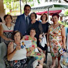Tη λαική αγορά της Γαλατινής και την πλατεία της Εράτυρας επισκέφτηκε σήμερα Κυριακή 23-6 o Στάθης Κωνσταντινίδης