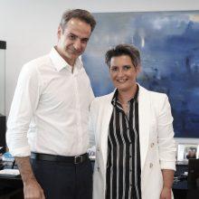 Συνάντηση του Προέδρου της Ν.Δ. κ. Κυριάκου Μητσοτάκη με την υποψήφια Βουλευτή Κοζάνης κα Ευλαμπία (Εύη) Πρώϊου – Βαρζή