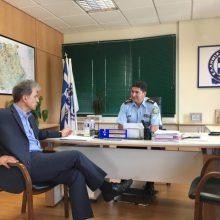 Γιώργος Αμανατίδης: Συναντήσεις με τα στελέχη της Ελληνικής Αστυνομίας.