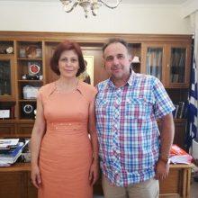 Συνάντηση με μέλη του διοικητικού συμβουλίου του ΕΒΕ είχε η υποψήφια Βουλευτής της ΝΔ Παρασκευή Βρυζίδου