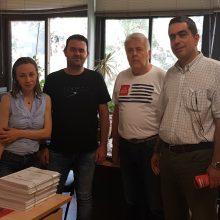 Επίσκεψη του βουλευτή ΣΥΡΙΖΑ και εκ νέου υποψηφίου Γιάννη Θεοφύλακτου στις υπηρεσίες της Νομαρχίας Κοζάνης