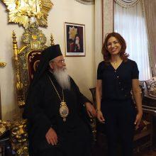 Επίσκεψη της υπ. Βουλευτή ΣΥΡΙΖΑ -ΠΡΟΟΔΕΥΤΙΚΗ ΣΥΜΜΑΧΙΑ Στέλλας Θεοχάρη για ευχές της ονομαστική εορτής του στον Μητροπολίτη Σερβίων & Κοζάνης