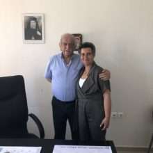 Συνάντηση της υποψήφιας Βουλευτή της Νέας Δημοκρατίας Ευλαμπία Πρώϊου με τον πρόεδρο της Ευξείνου Λέσχης Κοζάνης, Κωνσταντίνο Σανίδη