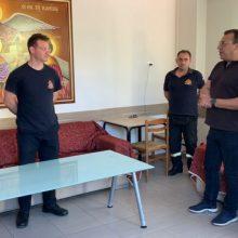 Επίσκεψη Χρόνη Ακριτίδη στην Πυροσβεστική Υπηρεσία