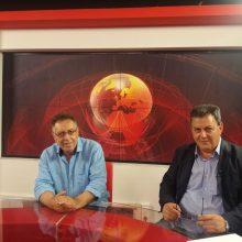 O Υποψήφιος Βουλευτής του ΚΙΝΑΛ-ΠΑΣΟΚ Τάσος Τσιλφίδης στο τηλεοπτικό σταθμό West