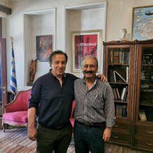 Συναντήσεις στη  πόλη της Πτολεμαΐδας, είχε σήμερα Τετάρτη 3 Ιουλίου ο υποψήφιος βουλευτής ΣΥΡΙΖΑ, Θέμης Μουμουλίδης