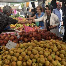Στο κέντρο και στη λαϊκή αγορά της Κοζάνης βρέθηκε η υποψήφια βουλευτής κα. Ευλαμπία Πρώϊου