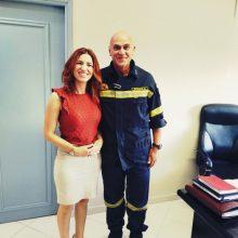 Το Αστυνομικό Τμήμα και την Σχολή Πυροσβεστικής της Πτολεμαΐδας επισκέφθηκε η υποψήφια βουλευτής Στέλλα Θεοχάρη