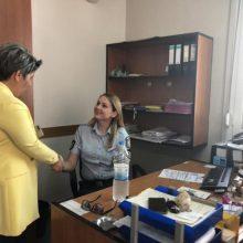 Το Δασαρχείο Τσοτυλίου και το  Αστυνομικο Τμήμα Νεάπολης  ,επισκέφθηκε σήμερα, Παρασκευή 5/07 ,η υποψήφια βουλευτής της ΝΔ , Ευλαμπία Πρώϊου