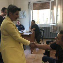 Στο Πυροσβεστικό Κλιμάκιο Νεάπολης, βρέθηκε η υποψήφια βουλευτής της ΝΔ   Ευλαμπία Πρώϊου