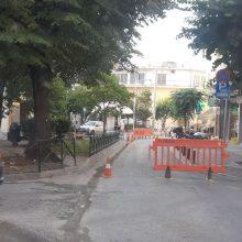 kozan.gr: Κλειστή η οδός Δημοκρατίας, λόγω εργασιών, στο ύψος της πλατείας Τιάλιου στην Κοζάνη (Φωτογραφίες