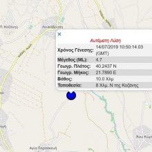 kozan.gr: Σεισμική δόνηση μεγέθους 4.7 Ρίχτερ με επίκεντρο κοντά στη Καρυδίτσα Κοζάνης