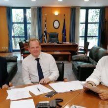 Δέσμευση, του νέου Υπουργού Μεταφορών και υποδομών Κώστα Καραμανλή, να σταματήσουν οι εργασίες για την κατασκευή μετωπικού και πλευρικών σταθμών διοδίων στην περιοχή Μπάρας – Ξηρολίμνης – Καλαμιάς, μετά από συνάντηση του βουλευτή Κοζάνης Μιχάλη Παπαδόπουλου και του νέου δημάρχου Βοΐου Χρήστου Ζευκλή – Eπανεξέταση του θέματος