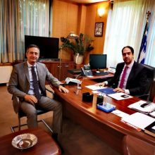 Mε τον υφυπουργό μεταφορών συναντήθηκε o βουλευτής της Νέας Δημοκρατίας Π.Ε. Κοζάνης,  Στάθης Κωνσταντινίδης