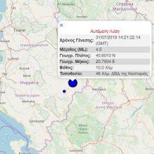 kozan.gr: Σεισμική δόνηση μεγέθους 4,5 Ρίχτερ, 36 Χλμ. Δυτικά της Καστοριάς, στην Αλβανία