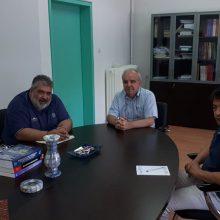 Συνάντηση του Παναγιώτη Πλακεντά με τους  Κοσμήτορες Εργοθεραπείας και Μαιευτικής με θέμα την λειτουργία των τμημάτων στην Πτολεμαΐδα (Φωτογραφία_)