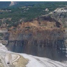 Bίντεο από τη μεγάλη κατολίσθηση στο ορυχείο Προσηλίου