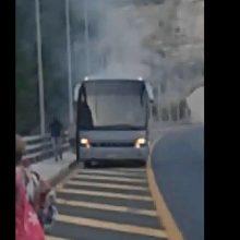 kozan.gr: Bίντεο, από επιβάτη, του λεωφορείου, που τυλίχθηκε στις φλόγες στην Εγνατία Οδό, πριν ξεκινήσει η φωτιά και στη συνέχεια η εξέλιξή της