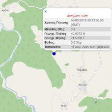 kozan.gr: Σεισμική δόνηση 3.7 Ρίχτερ, πριν από λίγο (23:12), 15 Χλμ. νοτιοανατολικά των Γρεβενών