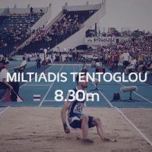 Xρυσός, στο ευρωπαϊκό πρωτάθλημα ομάδων, που διεξάγεται στην πολωνική πόλη Μπίντγκοτζ, με άλμα στα 8,30 μέτρα ο Γρεβενιώτης Μίλτος Τεντόγλου