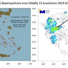 Πάνω από 3.000 κεραυνοί στην Ελλάδα ανήμερα του Δεκαπενταύγουστου – Τα δεύτερα μεγαλύτερα ύψη βροχής κατεγράφησαν στην Βλάστη Εορδαίας