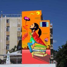 Ξεκίνησε σήμερα η υλοποίηση της Τοιχογραφίας στον πεζόδρομο της Κοζάνης στο πλαίσιο των Εικαστικών παρεμβάσεων σε δημόσιους χώρους