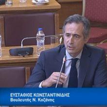 "H τοποθέτηση του βουλευτή Ν. Κοζάνης Στάθη Κωνσταντινίδη στη Διαρκή Επιτροπή Παραγωγής και Εμπορίου για το θέμα της ΔΕΗ: ""Οι εργολάβοι, στην περιοχή μας, έχουν να πληρωθούν 8 μήνες. Αυτό συνιστά στάση πληρωμών – Θα υποστηρίξουμε τις αποφάσεις σας, όχι από κομματική συνέπεια, αλλά από την ανάγκη και την αγωνία μας για τη διάσωση της ΔΕΗ""(Βίντεο)"