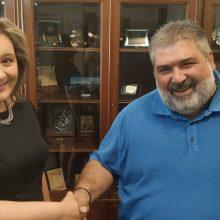 Επίσκεψη της Αθηνάς Τερζοπούλο στον Δήμαρχο Εορδαίας Παναγιώτη Πλακεντά (Φωτογραφίες& Βίντεο)