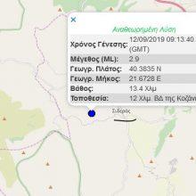 kozan.gr: Άλλαξε την αρχική του εκτίμηση το Γεωδυναμικό Ινστιτούτο – 2,9 R τελικά η σεισμική δόνηση, που σημειώθηκε στις 12:13, με νέο επίκεντρο κοντά στα Σιδερά του Δήμου Κοζάνης