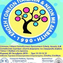 Κοζάνη: Εκπαιδευτικό σεμινάριο «Σωστή διαχείριση του σακχαρώδη διαβήτη τύπου 1 των παιδιών στο σχολείο», την Κυριακή 20 Οκτωβρίου