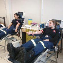 Πραγματοποιήθηκε το πρωί της Παρασκευής 11/10 εθελοντική αιμοδοσία, στις εγκαταστάσεις της Σχολής Πυροσβεστών παρ. Πτολεμαΐδας