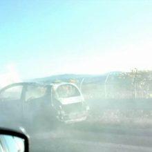 kozan.gr: Κάηκε ολοσχερώς αυτοκίνητο στον κάθετο άξονα της Εγνατίας Οδού, στο ρεύμα προς Κοζάνη, περίπου στο ύψος του Μικροκάστρου Βοΐου (Φωτογραφία)