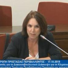 Ομιλία της Καλλιόπης Βέττα στην Κοινοβουλευτική Επιτροπή Προστασίας του Περιβάλλοντος (Βίντεο)