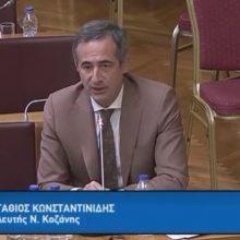 Τοποθέτησή του Στάθη Κωνσταντινίδη στη Διαρκή Επιτροπή Δημόσιας Διοίκησης, Δημόσιας Τάξης και Δικαιοσύνης  (Βίντεο)