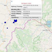 kozan.gr: Σεισμική δόνηση μεγέθους 4,9 της κλίμακας Ρίχτερ στην Αλβανία, δυτικά της Καστοριάς, αισθητός σε περιοχές της Δ. Μακεδονίας