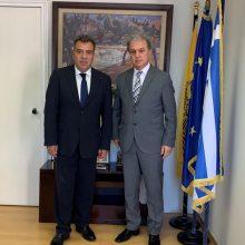 Συνάντηση Βουλευτή ΝΔ του Νομού Κοζάνης κ. Γιώργου Αμανατίδη για θέματα τουριστικής στρατηγικής της χώρας και ειδικότερα του Ν. Κοζάνης, με τον Υφυπουργό Τουρισμού κ. Μάνο Κόνσολα.