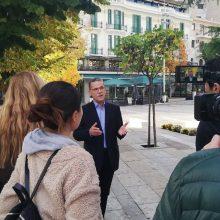 Στιγμιότυπα από την συνέντευξη του Δημάρχου Κοζάνης, Λάζαρου Μαλούτα στο CGTN Europe (China Global Television Network) με βασικά θέματα τις εξαγωγές Κρόκου Κοζάνης στην κινεζική αγορά