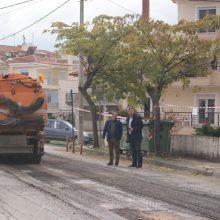 Σε εξέλιξη έργα ασφαλτόστρωσης και αποκατάστασης φθορών σε οδούς της Κοζάνης (Bίντεο & Φωτογραφίες)