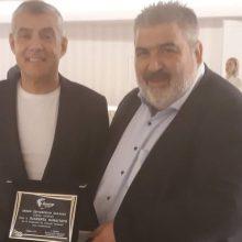 Ο πρώην Αντιπεριφερειάρχης Π.Ε. Κοζάνης και νυν Δήμαρχος Εορδαίας, Παναγιώτης Πλακεντάς τιμήθηκε από την ΕΝΠΕ για την 13χρονη προσφορά του στην περιφερειακή διακυβέρνηση (Φωτογραφία)