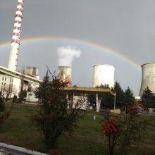 kozan.gr: Τo όμορφο ουράνιο τόξο πάνω από τον ΑΗΣ Καρδιάς (Σημερινή λήψη 14:55)
